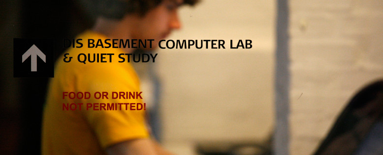 Study abroad at DIS, computer lab for students