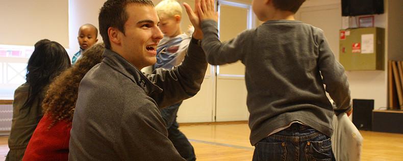 Child Development and Diversity Visit Local Shelter