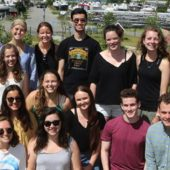 DIS Summer course Environmental Philosophy goes on Field Study to Køge Bay.