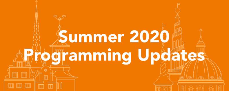 Summer 2020 Programming Update