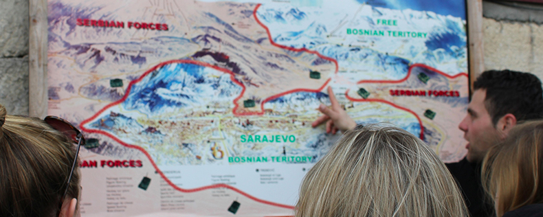 DIS Summer course, Humanitarian Law and Armed Conflict, Study Tour to Bosnia