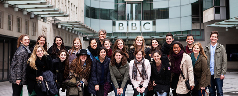 Communication study abroad program, study tour to BBC in London