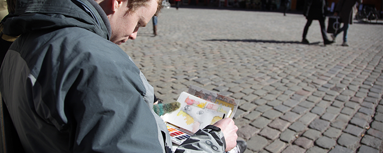 Watercolor Painting, elective course at DIS Copenhagen