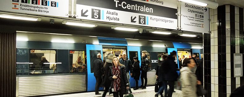 Taking the metro, DIS Stockholm